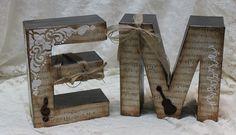 Letras decoradas de cartón, las hacemos por encargo