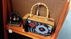 Cigar box handbag, lined. Booth 203.