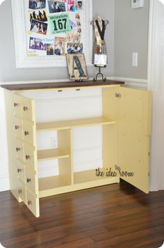 Adorable Faux Apothecary-Cabinet by @Amy Huntley (The Idea Room) #lowesCreator