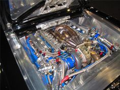 now thats an Engine Bay' Bet You Could Cook Dinner on That Hood !!