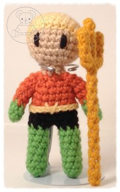 Aquaman Aquaman, Dc Characters, Madness, Crocheting, Crochet Patterns, Artisan, Batman, Craft Ideas, Amigurumi