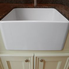 This Highpoint Collection 24-inch fireclay sink includes bottom grid and drain. This Fireclay sink is perfect for any kitchen application, including those with less counterspace.