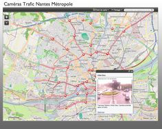 Live Traffic Cameras on #ArcGIS Online - Nantes (France)  Live data feeds integration in a an #agol #map
