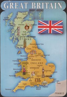 Map of Great Britain England And Scotland, England Uk, Travel England, Map Of Great Britain, Britain Map, Growing Up British, Best Of British, World Thinking Day, Fortnum And Mason