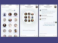 Interessante concept per idea chat di gruppo