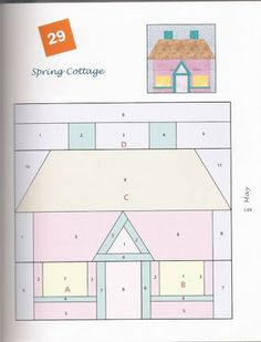 spring cottage paper pieced foundation pattern