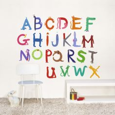Abecedary ABCs Wall Decals for Kids Rooms