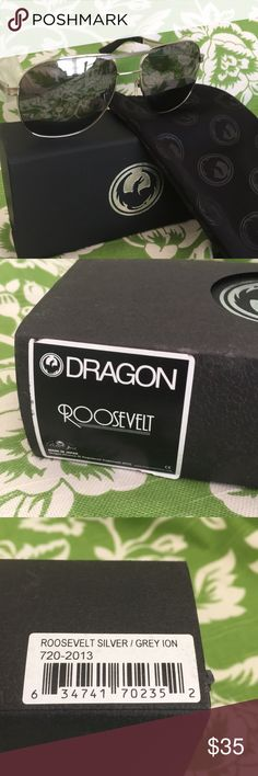 NWT Dragon Roosevelt silver grey ion unused stock NWT Dragon Roosevelt silver grey ion unused stock from closed store Fast shipper flex hinge nose pads classic style👀😎👓🕶 Dragon Accessories Sunglasses