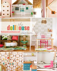 The dollhouse diaries - DIY dollhouse interior made from things laying around the house... this is remarkable! By The Handmade Home.
