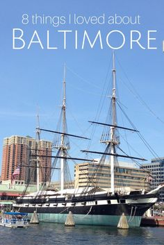 They don't call it Charm City for nothing. Baltimore is a great city with tons to offer! || 8 things I loved about Baltimore, Maryland.