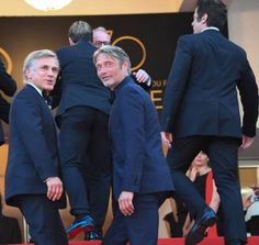 Winners of the Men's Performance Award for the 70th Anniversary: Christoph Waltz, Mads Mikkelsen