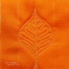 This Week's Tutorial-The Basic Leaf - Lori Kennedy Quilts - The Basic Leaf Free Motion Quilting Tutorial - Patchwork Quilting, Quilt Stitching, Quilts, Quilting Stencils, Quilting Templates, Quilting Tips, Longarm Quilting, Hand Quilting, Machine Quilting Tutorial