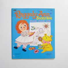 1967 Raggedy Ann Doll Sticker Book Press Out Stick On Color Whitman Bobbs Merrill Company by AmericanBeautyDolls on Etsy