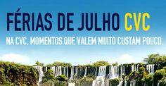 Férias de julho CVC pacotes baratos de viagem #viagens #promoção #férias #cvc
