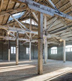 Image 10 of 13 from gallery of Xintai Warehouse Renovation / Kokaistudios. Photograph by Dirk Weiblen Mini Clubman, Warehouse Renovation, Warehouse Office, Brick Works, Adaptive Reuse, Dream Studio, Architecture Office, Industrial Style, Pergola