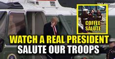 BREAKING VIDEO : Watch a REAL PRESIDENT Salute Marines as he Leaves Marine One – TruthFeed