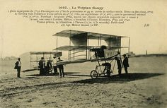 The Goupy Triplane in its original version during trials at Issy-les-Moulineaux October Small Letters, Original Version, Plans, Picture Show, Trials, Aviation, The Originals, October, History