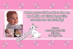 Easter Invitations  - ANY COLOR SCHEME - Any Wording - Get these invitations RIGHT NOW. Design yourself online, download and print IMMEDIATELY! Or choose my printing services. No software download is required. Free to try! Easter Invitations, Diy Invitations, Printing Services, Easter Bunny, All The Colors, Color Schemes, Software, Birthday, Prints