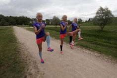 Athletics: Go sisters! Twins and triplets to run in Rio marathon  -  August 12, 2016  -      Estonia's olympic team female marathon runners Luik triplets take part in a training session in Tartu, Estonia