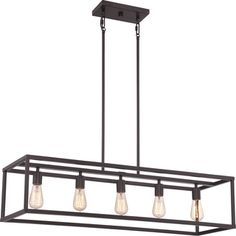 Delphinus 35-inches LED Linear Adjustable Hanging Industrial Chandelier Lighting with LED Filament Bulbs in Satin Nickel | Overstock.com Shopping - The Best Deals on Chandeliers & Pendants