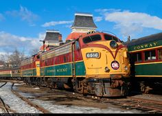 CSRX 6515 Conway Scenic Railroad GMD FP9 at North Conway, New Hampshire by Sean McPherson