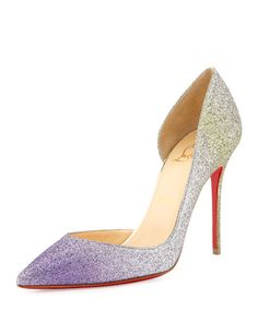 Iriza+Degrade+Glitter+Red+Sole+Pump,+Drage/Light+Gold++by+Christian+Louboutin+at+Neiman+Marcus.