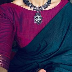 How to wear saree blouses watches 70 trendy Ideas Cotton Saree Blouse Designs, Saree Blouse Patterns, Trendy Sarees, Stylish Sarees, Saree Jackets, Saree Jewellery, Classy People, Plain Saree, Saree Look