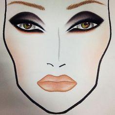 brutalityatbest: My all time fave face chart I've done! Mac Makeup Looks, Love Makeup, Beauty Makeup, Glamour Makeup, Mac Face Charts, Makeup Face Charts, Facial, Makeup Forever, Bridal Makeup