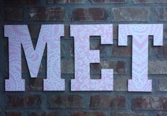 A personal favorite from my Etsy shop https://www.etsy.com/listing/244295076/135-in-personalized-letters-wooden
