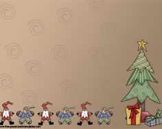 This Is A Christmas Point Ppt Template With Brown Background Design And