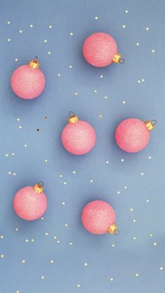 Pink / Lavender / Baby Blue / Ornaments / Wallpaper / Gold Stars