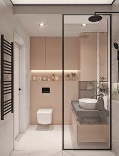 38 Modern Bathroom Decor and Design Ideas For More Attractive Home ~ Ideas for House Renovations Bad Inspiration, Bathroom Inspiration, Bathroom Ideas, Bathroom Vanities, Master Bathroom, Bathroom Cabinets, Bathroom Pink, Remodel Bathroom, Budget Bathroom