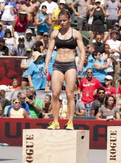 Julie Foucher, CrossFit Games 2011. Ow ow! I keep meaning to try cross fit, but those box jumps intimidate me.