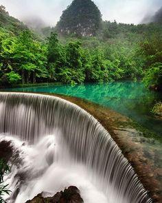 """(@earthcol0rs) on Instagram: """"Xiaoqikong Waterfall Libo, Guizhou, China """""""