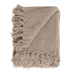Home Collection Taupe chunky chenille throw- at Debenhams.com