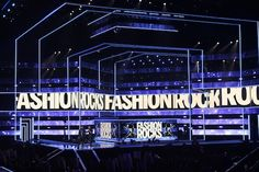 """Fashion Rocks Live."" set, designed by Anne Brahic and constructed by Atomic Design.lighting design was by Bob Dickinson of Full Flood. performances by Enrique Iglesias, Pitbull, Duran Duran, Miranda Lambert, Usher, Luke Bryan, Jennifer Hudson, Nicki Minaj, Magic!, The Band Perry, Rita Ora, Afrojack, Nico +Vinz, and Jennifer Lopez. Pete's Big TVs provided more than 2,000 LED tiles. http://livedesignonline.com/petes-big-tvs-helps-rock-fashion-worlds-largest-charity-event"