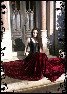 Liseron Floor Length Long Velvet Fairy Skirt - Custom Elegant Gothic Clothing and Dark Romantic Couture. $129.00, via Etsy.