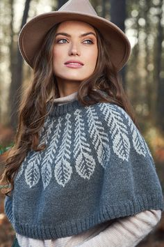 Rowan Plume Poncho Kit - Women's Accessories Kits at Jimmy Beans Wool Easy Knitting, Knitting Patterns, Knitting Designs, Knitting Projects, Rowan Yarn, Black Sheep Wool, Hand Accessories, Knitted Coat, Knit In The Round