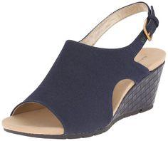 Bandolino Women's Galatee Wedge Sandal, Navy, 10 M US