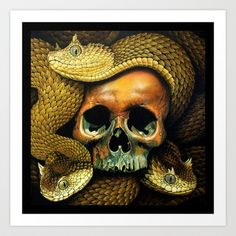 Skull Medusa Art Print by Voss fineart - $17.68