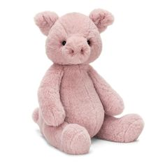Jellycat Puffles Piglet part of the new Puffles range that also includes Puffles Bear, Dino, Elephant and Panda - Baby Annabell, Jellycat, Farm Yard, Baby Store, Animal Crafts, Plushies, Pet Toys, Snuggles, Cuddling