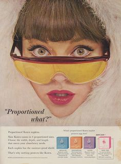 Proportioned Kotex Napkins (1960s)