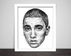 scribbled face of Eminem