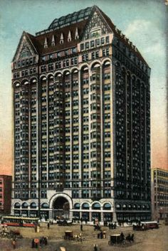 Illinois: Chicago Masonic Temple. Built: 1892. Location: 2 No. State Street, Chicago IL. Architect: Burnham and Root. Style: Chicago School. The tallest building in Chicago from 1895 to 1899, it was the first building in Chicago to exceed 18 floors, and had the highest occupied floor in the world. It was demolished in 1939.