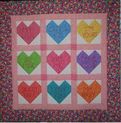 I pieced this about 8 years ago....just got it layered and quilted ....finally!!