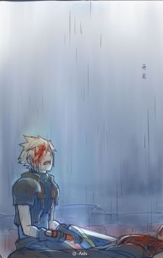 The thing is.every image I see of this scene breaks my heart more. Final Fantasy Vii Remake, Artwork Final Fantasy, Final Fantasy Crisis Core, Final Fantasy Cloud, Fantasy Series, Cloud Strife, Kingdom Hearts, Xbox 360, Videogames