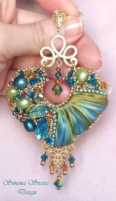 INDIAN SPIRIT shibori silk earrings / orecchini con seta