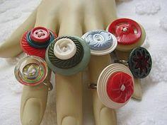 Anillos con botones.