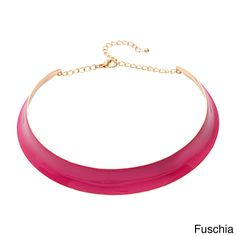 Alexa Starr Brights Hammered Colar Necklace (Fuschia), Women's, turquoise