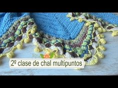 Como hacer chal en crochet multipuntos |2º clase |ganchillo facil - YouTube